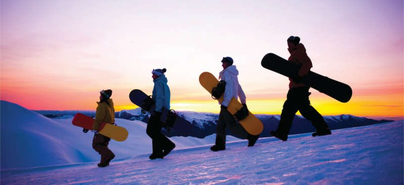 Snowboarders at Mt Hood