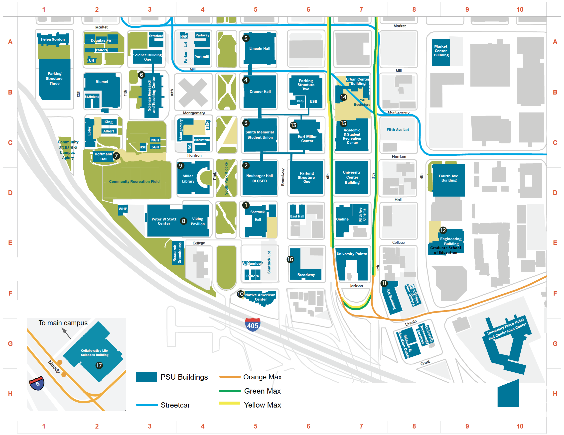 2017-18 PSU Campus Map